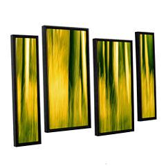 Brushstone Camera Shake 2 4-pc. Floater Framed Staggered Canvas Wall Art