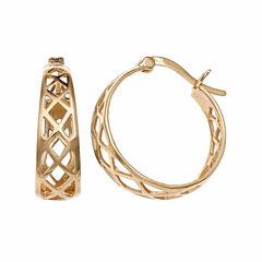 Gold Reflection 18K Gold Over Brass Hoop Earrings