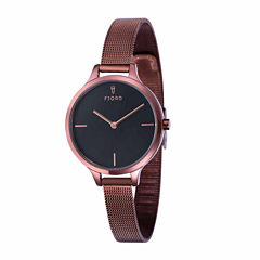 Fjord Womens Brown Expansion Watch-Fj-6027-55