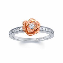 Enchanted by Disney 1/5 C.T. T.W. Diamond 10K White & Rose Gold