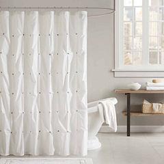 INK+IVY Masie Cotton Shower Curtain