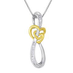 ForeverMine® 1/10 CT. T.W. Diamond Swirl Pendant Necklace