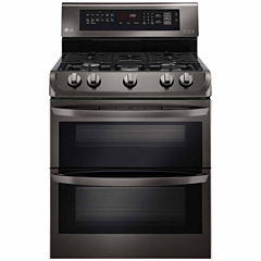 LG 6.9 cu. ft. Gas Double Oven Range with ProBake Convection™, EasyClean®