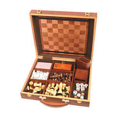 John N. Hansen Co. 6 in 1 Attache Game Compendium- Six Games in One Case