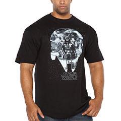 Starwars Millenium Short Sleeve Graphic T-Shirt-Big and Tall
