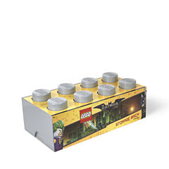 Lego Batman Storage Brick 8 Medium Stone Grey