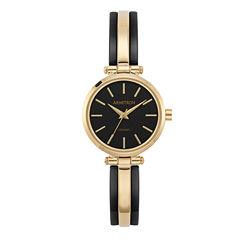 Armitron Womens Gold Tone Bangle Watch-75/5523bkgp