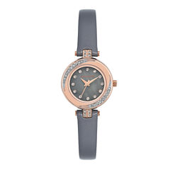 Armitron Womens Gray Strap Watch-75/5542gmrggy