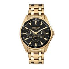Armitron All Sport Mens Gold Tone Bracelet Watch-20/5256bkgp