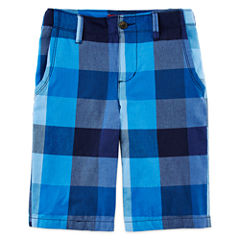 Arizona Plaid Chino Shorts - Boys 8-20, Husky and Slim