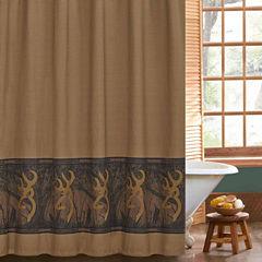 Browning Oak Tree Buckmark Shower Curtain