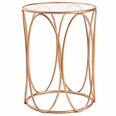 Innerspace Luxury Products Glass Top Chairside Table