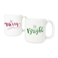 Cathy's Concepts Merry & Bright Large 2-pc. Coffee Mug