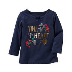 Oshkosh Short Sleeve T-Shirt-Toddler Girls