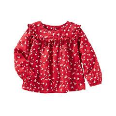 Oshkosh Long Sleeve Button-Front Shirt Girls