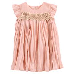 Oshkosh Short Sleeve A-Line Dress - Toddler Girls