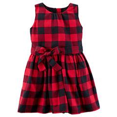 Carter's Sleeveless Checked A-Line Dress - Toddler Girls