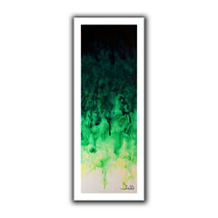 Brushstone Green Watery Canvas Wall Art