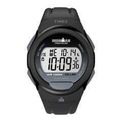 Timex® Mens Black Resin Strap 10-Lap Watch T5K6089J
