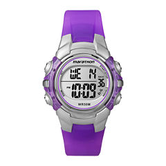 Marathon by Timex® Womens Purple Resin Strap Digital Watch T5K816M6