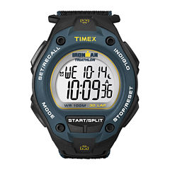 Timex® Ironman Mens Black Nylon Fast Strap 30-Lap Watch T5K4139J