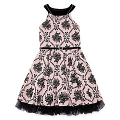 Knit Works Belted Sleeveless Skater Dress - Big Kid Girls