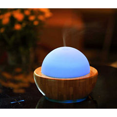 SPT SA-013: Ultrasonic Aroma Diffuser/Humidifier with Bamboo Base [Sphere]