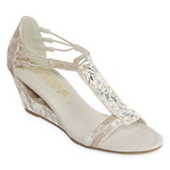 New York Transit Brighter Thought Womens Wedge Sandals