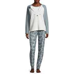 Bunny Plush Pajama Set-Juniors