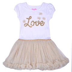 Nanette Baby Short Sleeve Tutu Dress - Toddler Girls