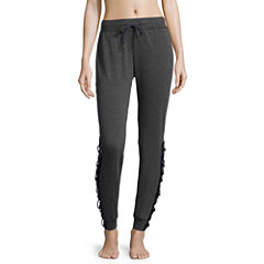 Flirtitude Lace Up Fleece Jogger Pants - Juniors