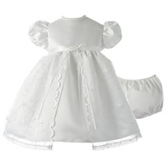 Keepsake Short Sleeve Puffed Sleeve Babydoll Dress - Baby Girls