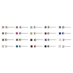 Decree Multi Color Earring Sets