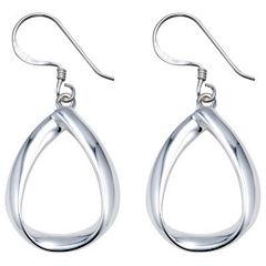 Sterling Silver Open Teardrop Earrings