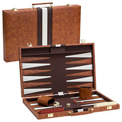 Brown/White Backgammon Game