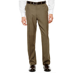 IZOD® Light Brown Sharkskin Flat-Front Suit Pants - Classic Fit