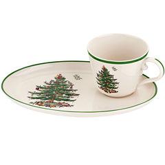 Spode® Christmas Tree Soup Mug and Sandwich Plate
