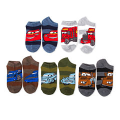 Boys 5-Pk. Cars No Show Socks