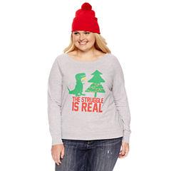Sweatshirt + Beanie Combo-Juniors Plus