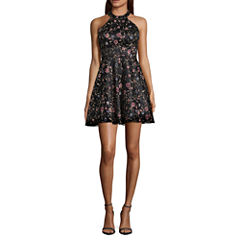 My Michelle Sleeveless Embroidered Party Dress-Juniors