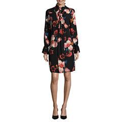 Worthington 3/4 Sleeve Shift Dress-Talls