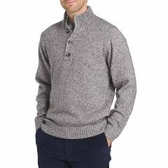 IZOD Harbor River Sweater Mock Neck Long Sleeve Pullover Sweater