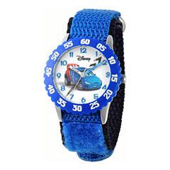 Disney Cars Time Teacher Kids Blue Strap Watch
