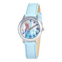 Disney Frozen Snow Queen Elsa Blue Strap Watch