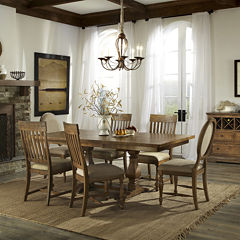 Lexington 7-pc. Pedestal Dining Set