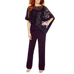 R&M Ricahrds Sequin Lace Poncho with Pant