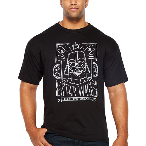 Starwars Travel Wars Short Sleeve Graphic T-Shirt-Big and Tall