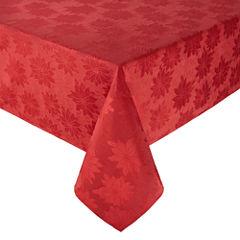 North Pole Trading Co. Poinsettia Seasons Tablecloth