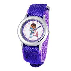 Disney Doc McStuffins and Friends Kids Time Teacher Purple Strap Watch