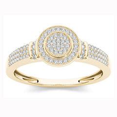 1/7 CT. T.W. Round White Diamond 10K Gold Engagement Ring
